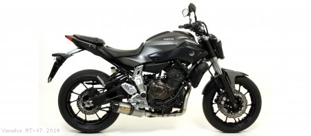 Low Mount Street Thunder Full System Exhaust by Arrow Yamaha / MT-07 / 2014