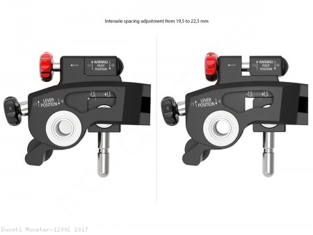 """Ultimate Edition"" Adjustable Levers by Ducabike Ducati / Monster 1200S / 2017"