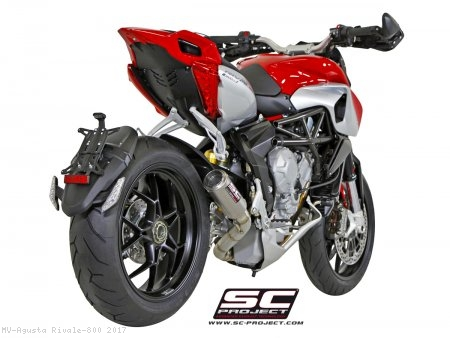 CR-T Exhaust by SC-Project MV Agusta / Rivale 800 / 2017