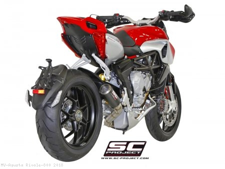 CR-T Exhaust by SC-Project MV Agusta / Rivale 800 / 2018
