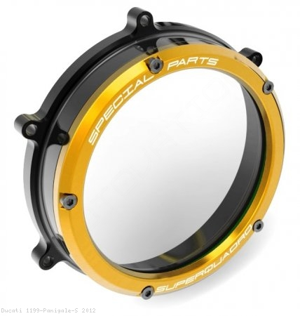 Clear Clutch Cover Oil Bath by Ducabike Ducati / 1199 Panigale S / 2012
