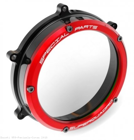 Clear Clutch Cover Oil Bath by Ducabike Ducati / 959 Panigale Corse / 2018