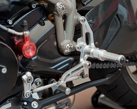 Adjustable Rearsets by MotoCorse Ducati / Streetfighter 1098 S / 2012