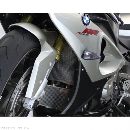 Titanium Radiator and Oil Cooler Guard by MotoCorse BMW / S1000RR HP4 / 2012