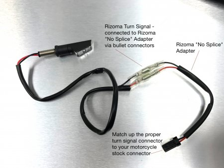 "EE082H Turn Signal ""No Cut"" Cable Connector Kit by Rizoma"