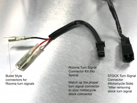 "EE079H Turn Signal ""No Cut"" Cable Connector Kit by Rizoma"