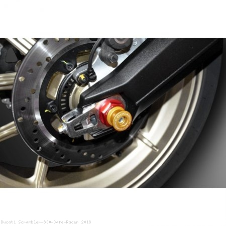 Rear Axle Spool Style Slider Kit by Ducabike Ducati / Scrambler 800 Cafe Racer / 2018