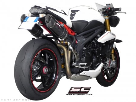 Oval High Mount Exhaust by SC-Project Triumph / Speed Triple R / 2014