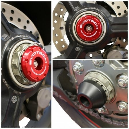 Rear Axle Sliders by Evotech Performance Ducati / Monster 1200S / 2014