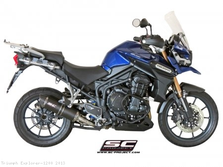 Oval Low Mount Exhaust by SC-Project Triumph / Explorer 1200 / 2013