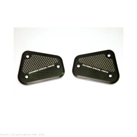Brake and Clutch Fluid Tank Reservoir Caps by Ducabike Ducati / Streetfighter 848 / 2011