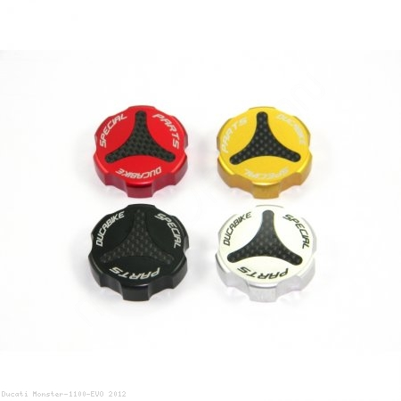 Carbon Inlay Rear Brake Fluid Tank Cap by Ducabike Ducati / Monster 1100 EVO / 2012