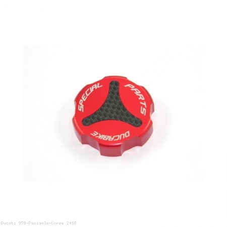 Carbon Inlay Rear Brake Fluid Tank Cap by Ducabike Ducati / 959 Panigale Corse / 2018