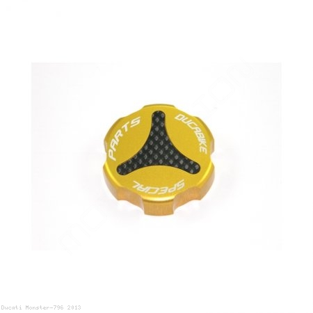 Carbon Inlay Rear Brake Fluid Tank Cap by Ducabike Ducati / Monster 796 / 2013