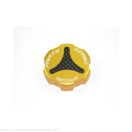 Carbon Inlay Rear Brake Fluid Tank Cap by Ducabike Ducati / Scrambler 800 Street Classic / 2018