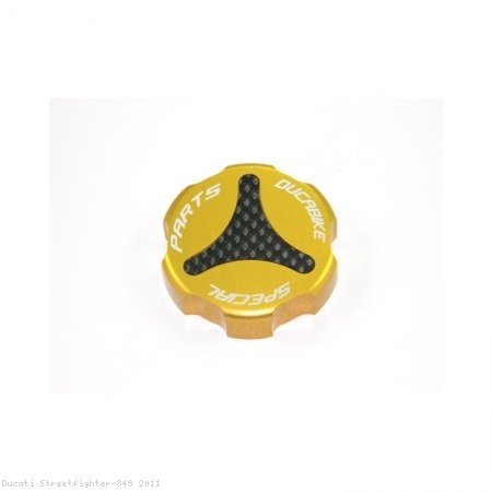 Carbon Inlay Rear Brake Fluid Tank Cap by Ducabike Ducati / Streetfighter 848 / 2011