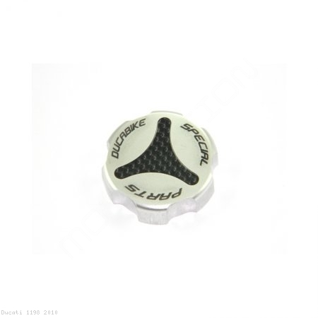 Carbon Inlay Rear Brake Fluid Tank Cap by Ducabike Ducati / 1198 / 2010