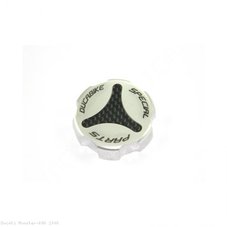 Carbon Inlay Rear Brake Fluid Tank Cap by Ducabike Ducati / Monster 696 / 2008