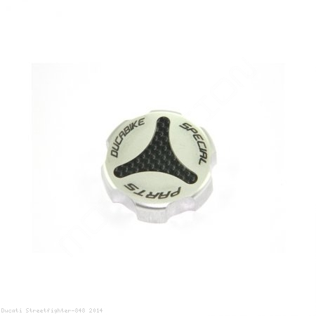 Carbon Inlay Rear Brake Fluid Tank Cap by Ducabike Ducati / Streetfighter 848 / 2014