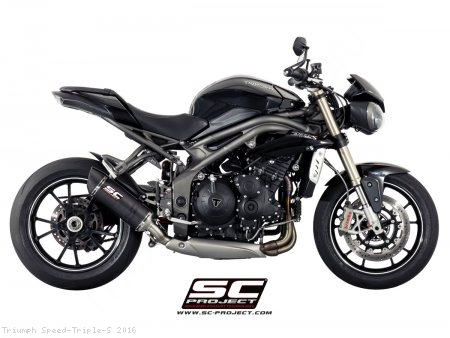 Oval Low Mount Exhaust by SC-Project Triumph / Speed Triple S / 2016