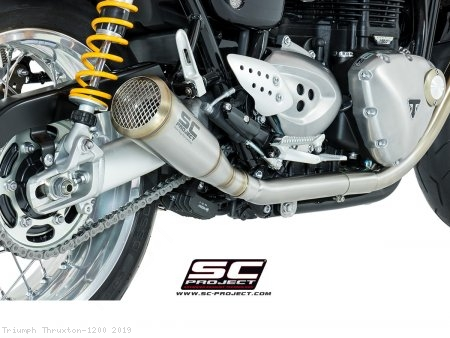 "Conic ""70s Style"" Exhaust by SC-Project Triumph / Thruxton 1200 / 2019"