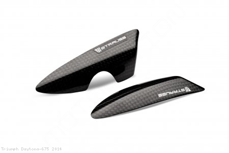 Carbon Fiber Tail Slider Kit by Strauss Carbon Triumph / Daytona 675 / 2014