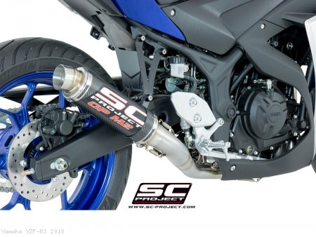 GP-M2 Exhaust by SC-Project Yamaha / YZF-R3 / 2018