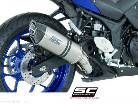 Oval Exhaust by SC-Project Yamaha / YZF-R3 / 2018