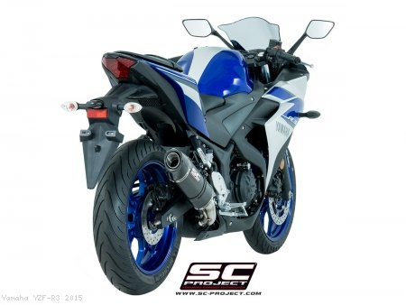 Oval Exhaust by SC-Project Yamaha / YZF-R3 / 2015